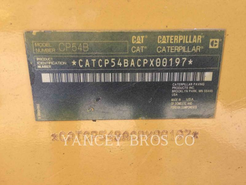 CATERPILLAR EINZELVIBRATIONSWALZE, BANDAGE CP54B equipment  photo 11