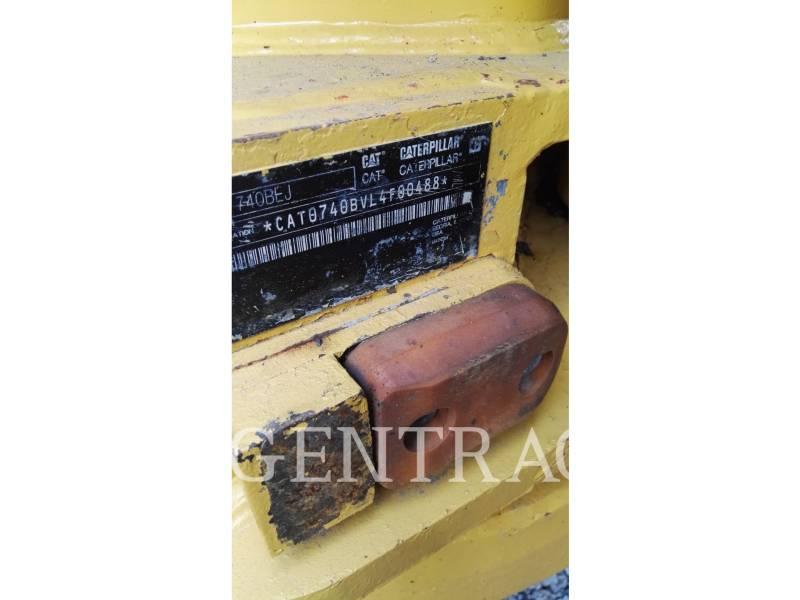 CATERPILLAR ARTICULATED TRUCKS 740BEJ equipment  photo 5