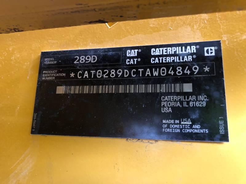CATERPILLAR CARGADORES MULTITERRENO 289 D equipment  photo 24