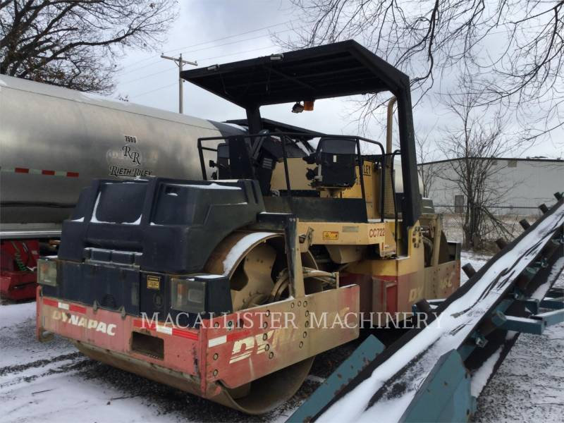 DYNAPAC VIBRATORY DOUBLE DRUM ASPHALT CC722 equipment  photo 4