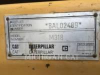 CATERPILLAR WHEEL EXCAVATORS M318 equipment  photo 11