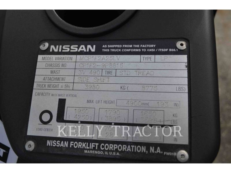 NISSAN FORKLIFTS GABELSTAPLER CF50LP equipment  photo 5