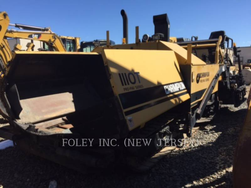 CHAMPION ASPHALT PAVERS 1110T equipment  photo 1