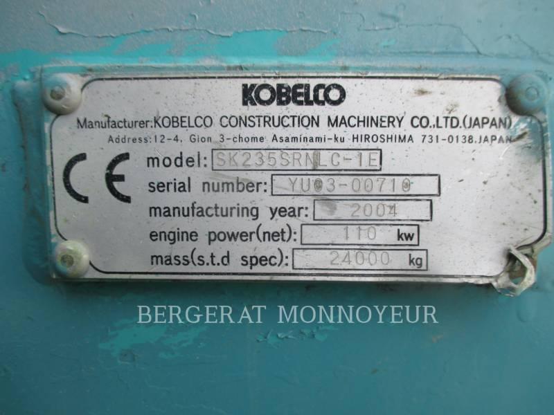 KOBELCO / KOBE STEEL LTD PELLES SUR CHAINES SK235 equipment  photo 7