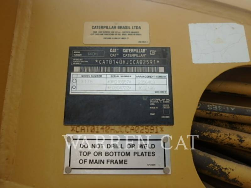 CATERPILLAR MOTONIVELADORAS 140HNA equipment  photo 8