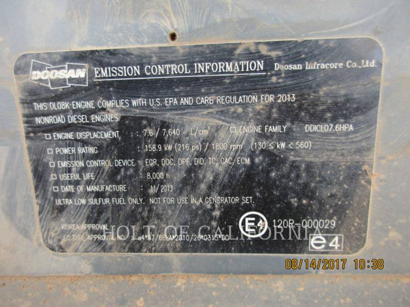 DOOSAN INFRACORE AMERICA CORP. FORESTAL - CARGADORES DE TRONCOS DX300LL-3 equipment  photo 23