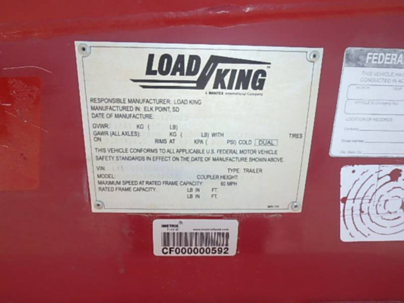 LOAD KING TRAILERS 605/7LFM-0F-SF equipment  photo 10