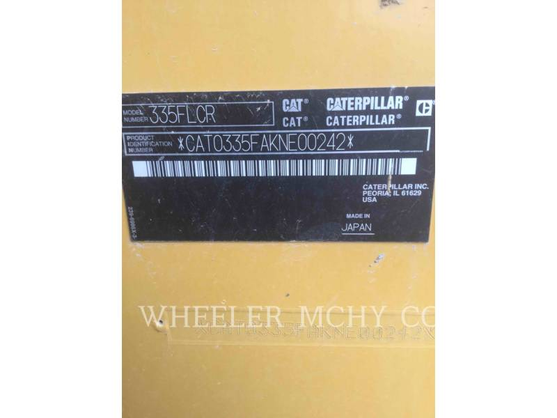 CATERPILLAR EXCAVADORAS DE CADENAS 335F CR CF equipment  photo 7