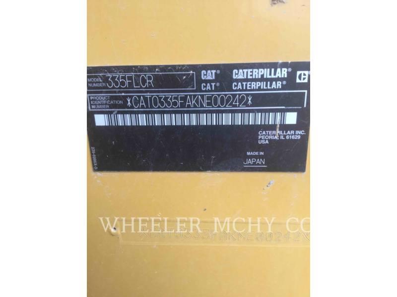 CATERPILLAR TRACK EXCAVATORS 335F CR CF equipment  photo 7