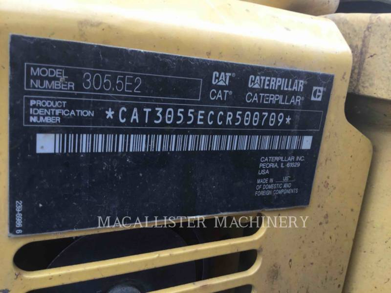 CATERPILLAR KETTEN-HYDRAULIKBAGGER 305.5E2CR equipment  photo 20