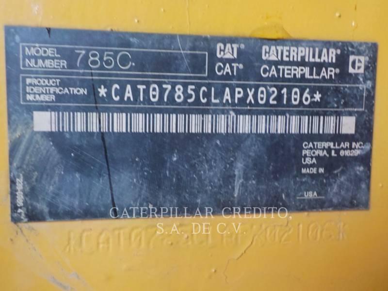 CATERPILLAR OFF HIGHWAY TRUCKS 785C equipment  photo 24