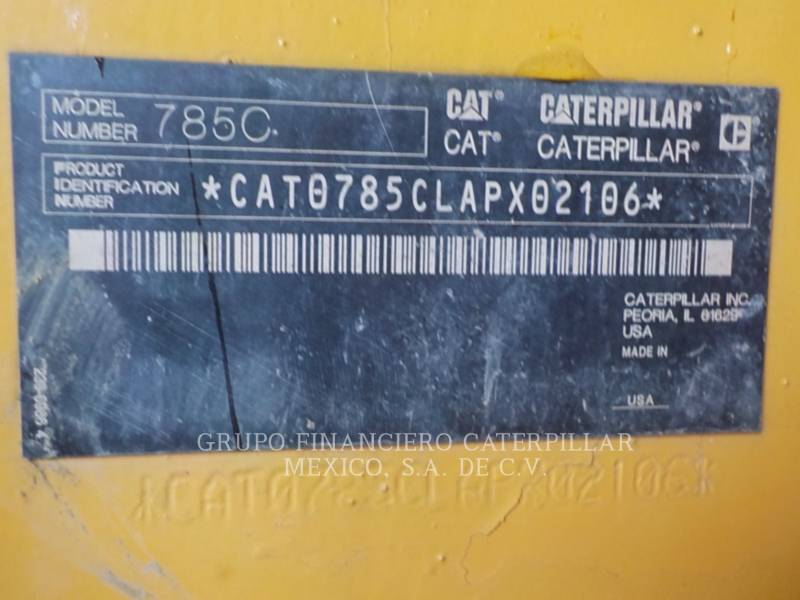 Caterpillar CAMIOANE PENTRU TEREN DIFICIL 785C equipment  photo 24