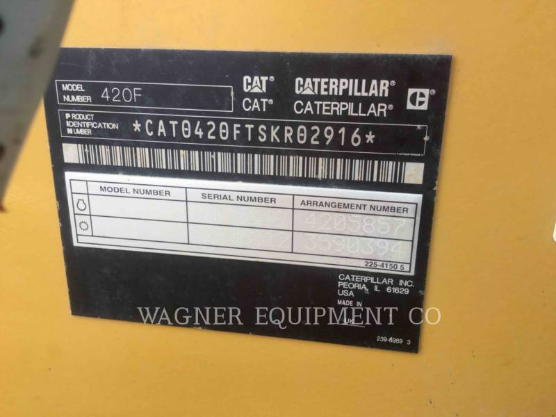 CATERPILLAR RETROEXCAVADORAS CARGADORAS 420F 4WDE equipment  photo 9