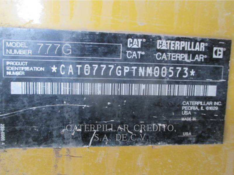 CATERPILLAR TOMBEREAUX DE CHANTIER 777GLRC equipment  photo 2