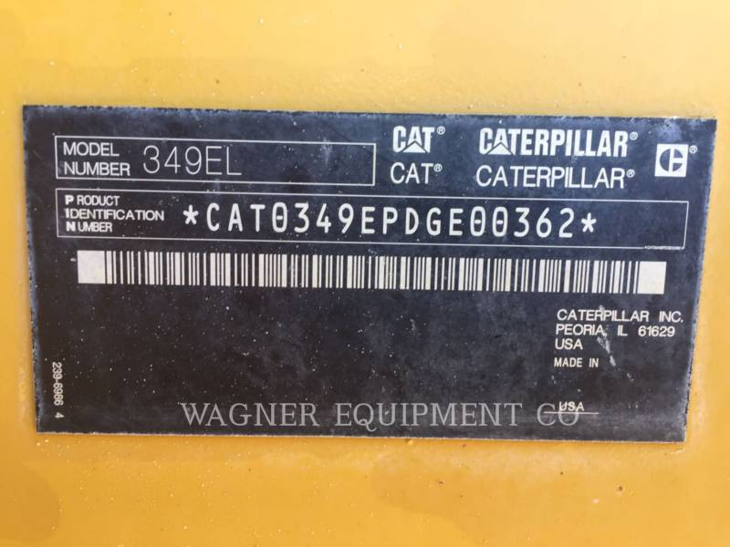 CATERPILLAR ESCAVATORI CINGOLATI 349ELVG equipment  photo 8