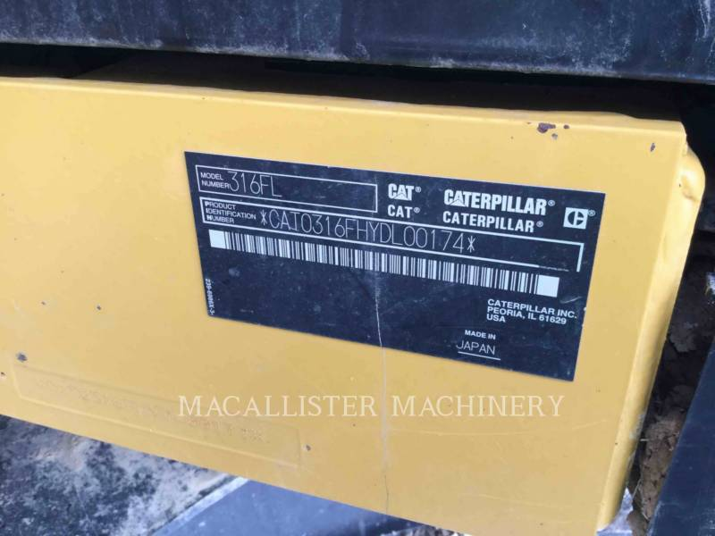 CATERPILLAR TRACK EXCAVATORS 316FL equipment  photo 5