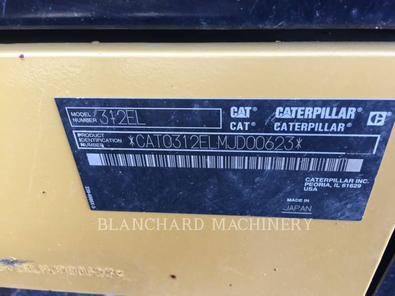 CATERPILLAR ESCAVATORI CINGOLATI 312EL equipment  photo 6