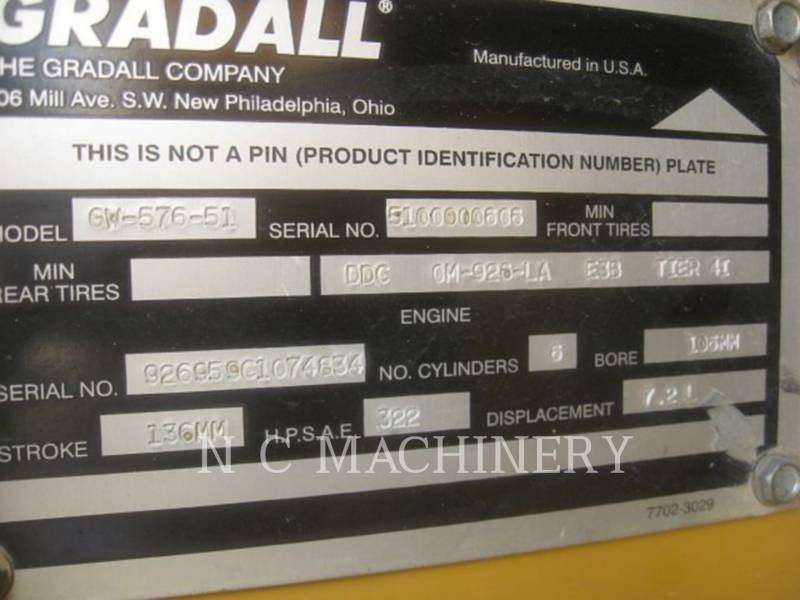 GRADALL COMPANY OVERIGE XL5100IV equipment  photo 5
