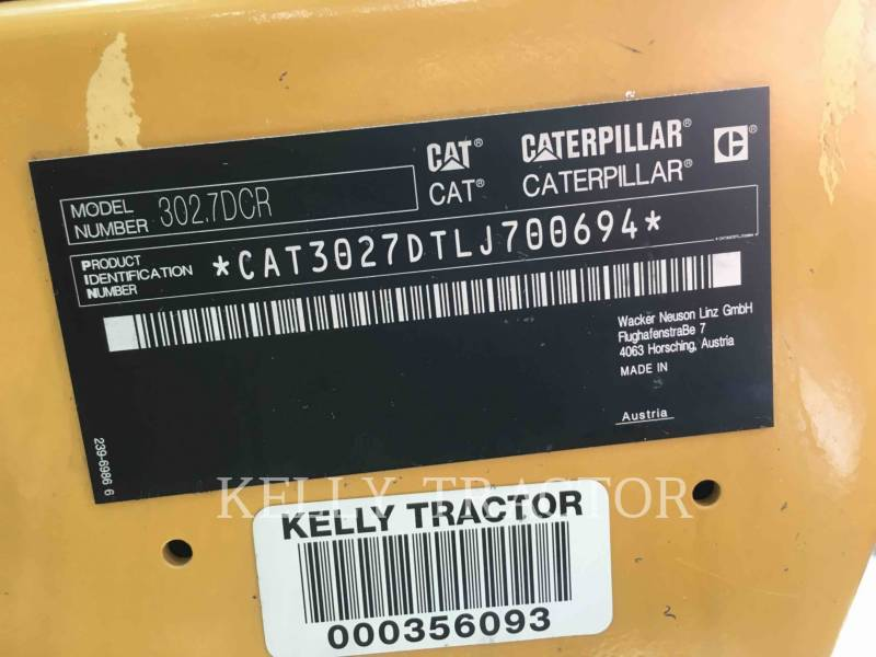 CATERPILLAR PELLES SUR CHAINES 302.7DCR equipment  photo 13