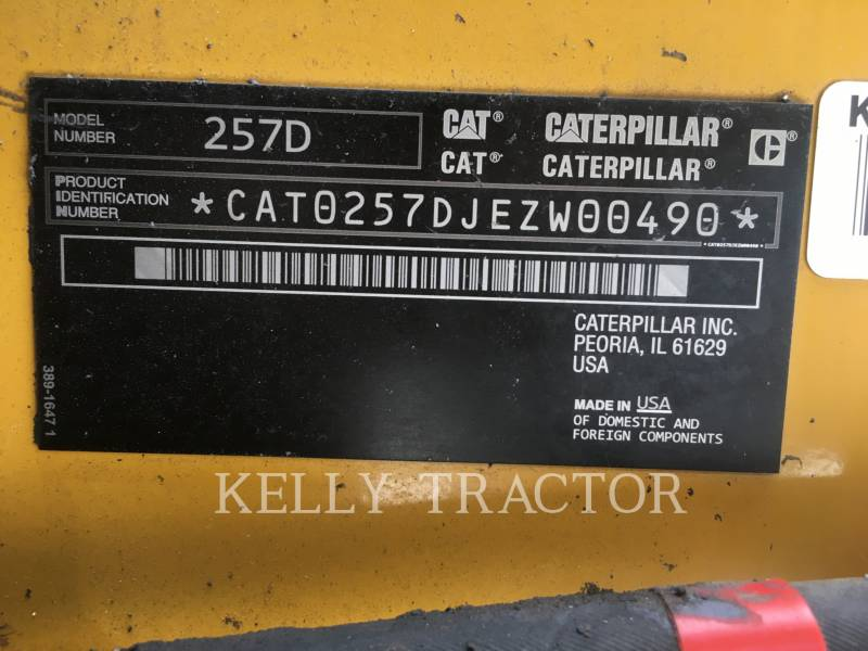 CATERPILLAR CHARGEURS TOUT TERRAIN 257D equipment  photo 16