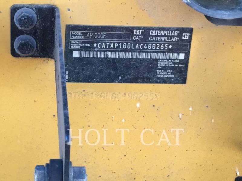 CATERPILLAR 沥青铺路机 AP1000F equipment  photo 5