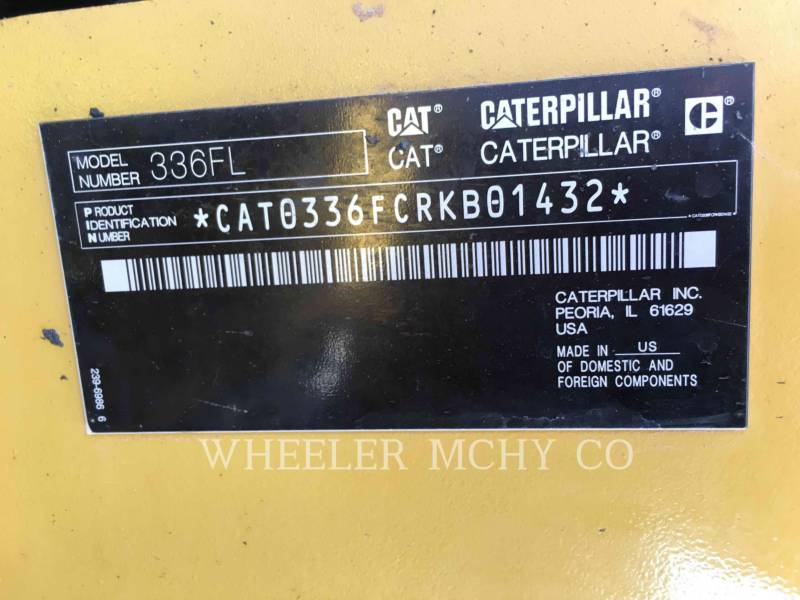 CATERPILLAR PELLES SUR CHAINES 336F L CF equipment  photo 7