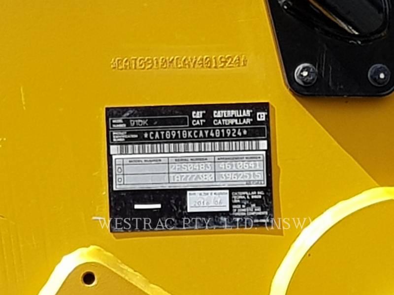 CATERPILLAR CHARGEURS SUR PNEUS/CHARGEURS INDUSTRIELS 910K equipment  photo 9