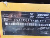 CATERPILLAR PELLES SUR CHAINES 336FL THB equipment  photo 5