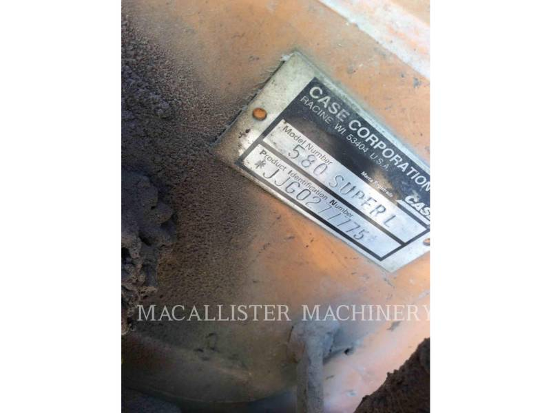 CASE BACKHOE LOADERS 580SL equipment  photo 5