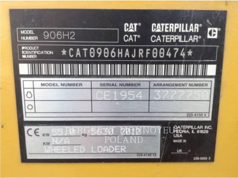 CATERPILLAR RADLADER/INDUSTRIE-RADLADER 906H2 equipment  photo 6