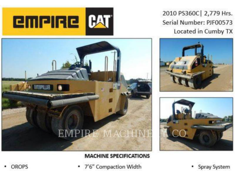 CATERPILLAR COMPACTADORES CON RUEDAS DE NEUMÁTICOS PS360C equipment  photo 2