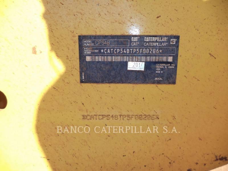 CATERPILLAR VIBRATORY SINGLE DRUM PAD CP54B equipment  photo 10