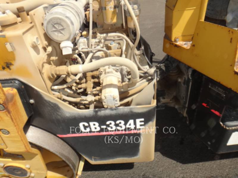 CATERPILLAR VIBRATORY DOUBLE DRUM ASPHALT CB-334EII equipment  photo 8