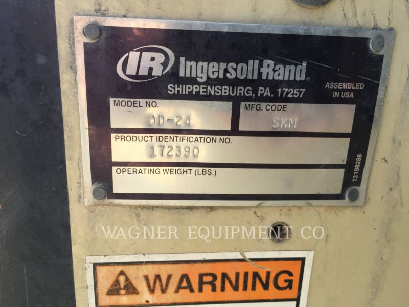 INGERSOLL-RAND COMPACTORS DD24 equipment  photo 5