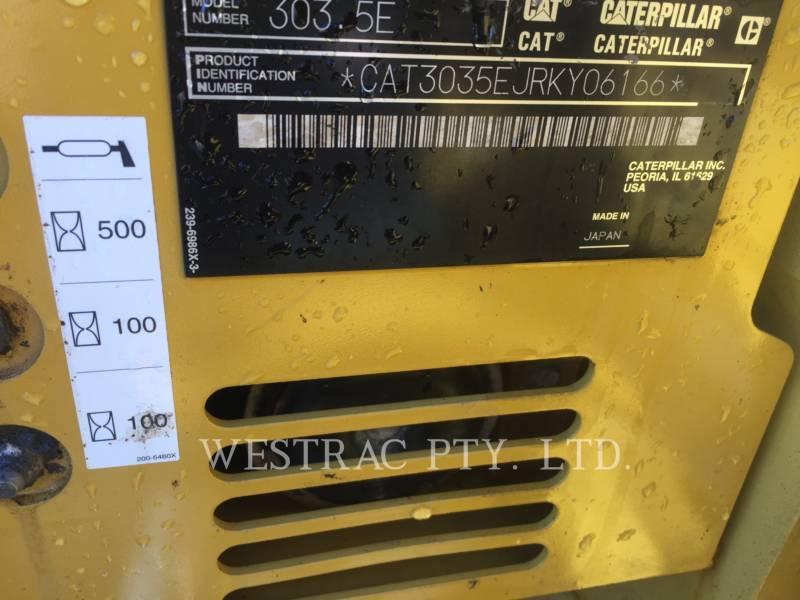 CATERPILLAR ESCAVATORI CINGOLATI 303.5ECR equipment  photo 16