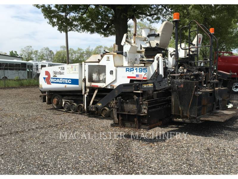 ROADTEC ASPHALT PAVERS RP195 equipment  photo 2