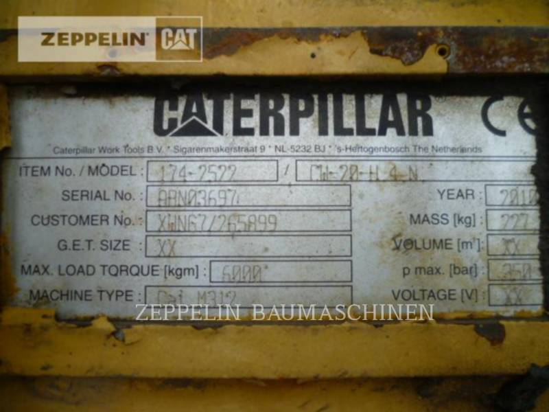 CATERPILLAR HERRAMIENTA DE TRABAJO - IMPLEMENTO DE TRABAJO - DE RETROEXCAVADORA Schnellwechsler CW20 equipment  photo 2