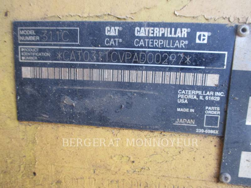 CATERPILLAR KETTEN-HYDRAULIKBAGGER 311CU equipment  photo 2