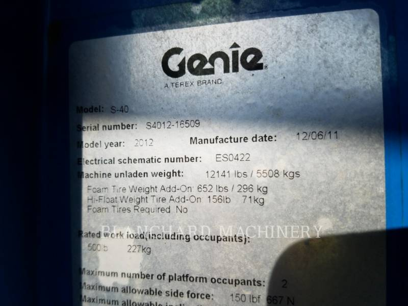 GENIE INDUSTRIES FLECHE S-40 equipment  photo 6