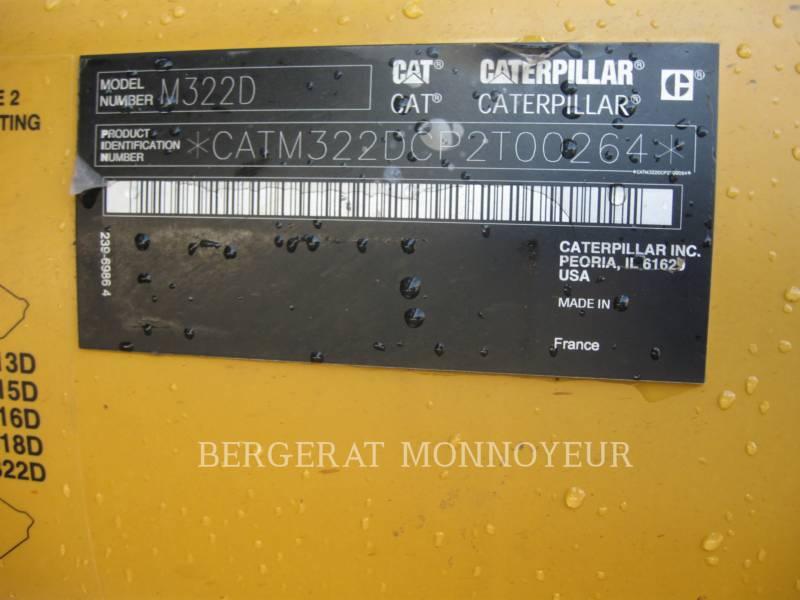 CATERPILLAR WHEEL EXCAVATORS M322D equipment  photo 15