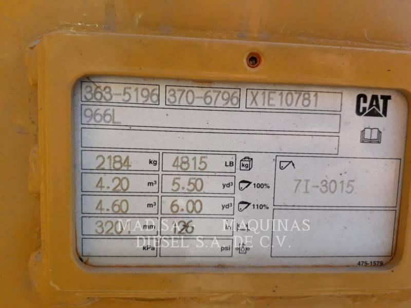 CATERPILLAR MINING WHEEL LOADER 966L equipment  photo 6