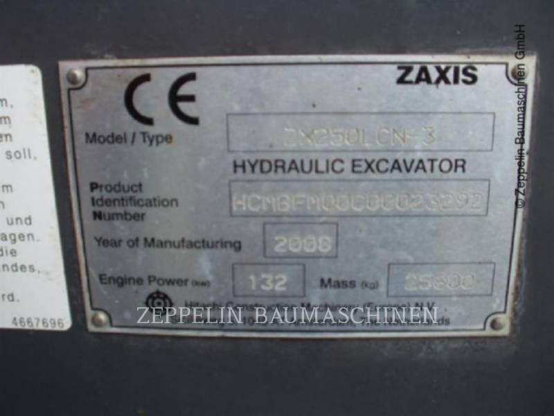 HITACHI TRACK EXCAVATORS ZX250LCN-3 equipment  photo 3