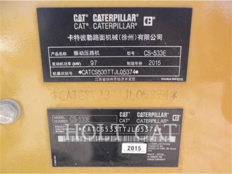 CATERPILLAR DRGAJĄCY POJEDYNCZY BĘBEN PODKŁAD. CS533E equipment  photo 5