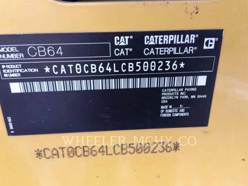 CATERPILLAR COMPACTEURS TANDEMS VIBRANTS CB64 R9 equipment  photo 6