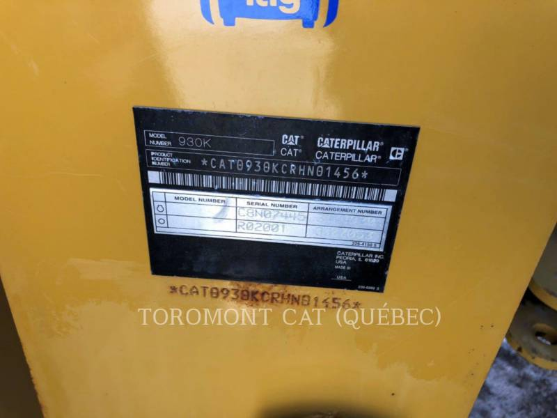 CATERPILLAR PALE GOMMATE/PALE GOMMATE MULTIUSO 930K equipment  photo 12