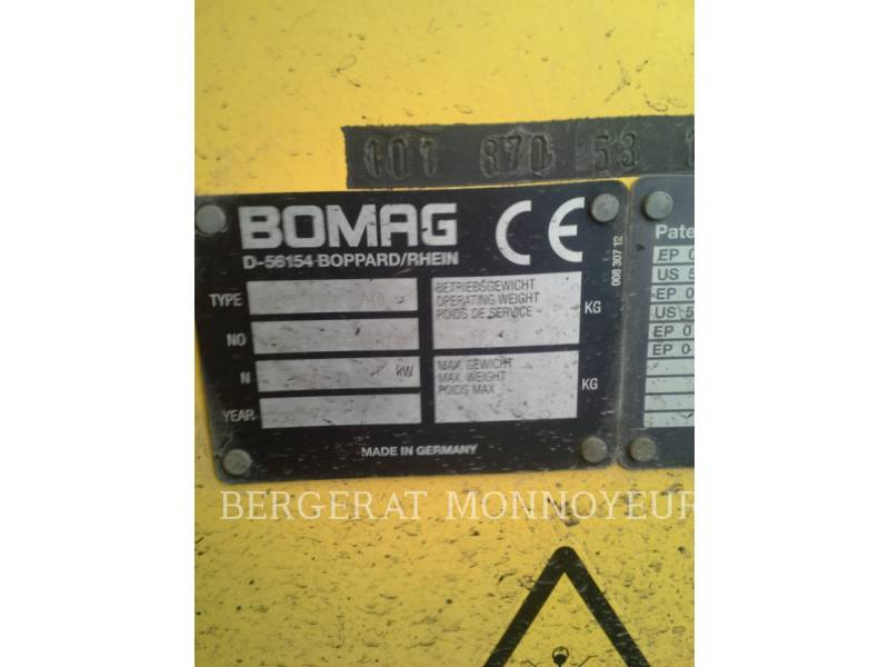BOMAG COMPACTEURS BW174 equipment  photo 8