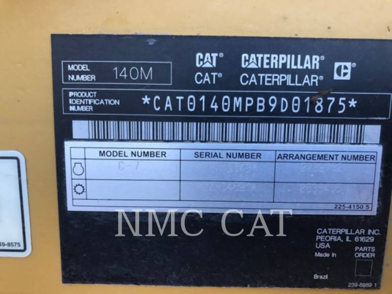CATERPILLAR MOTORGRADER 140M equipment  photo 6