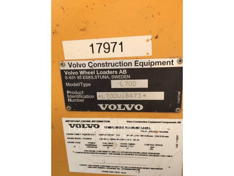 VOLVO CONSTRUCTION EQUIPMENT RADLADER/INDUSTRIE-RADLADER L70D equipment  photo 6
