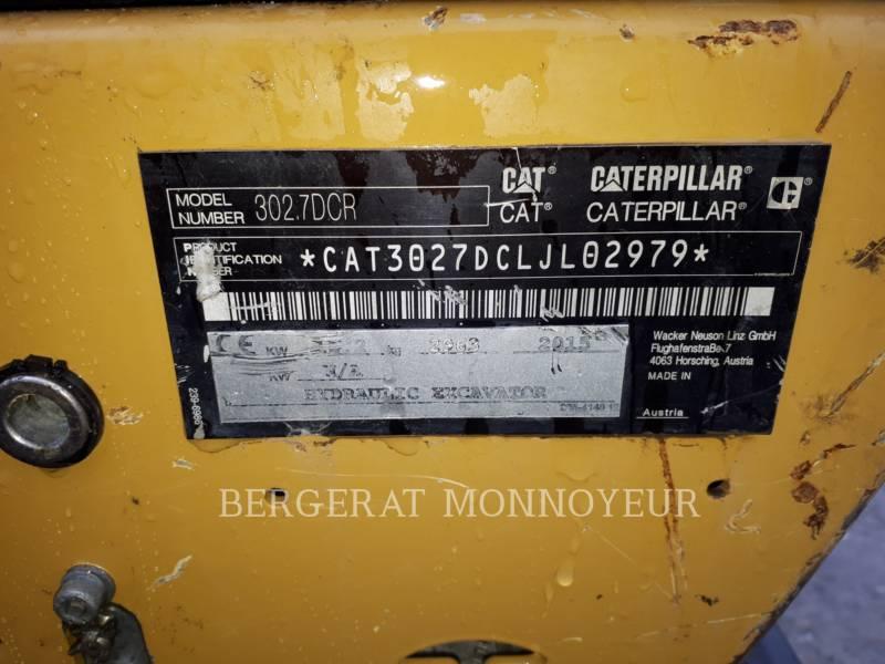 CATERPILLAR 履带式挖掘机 302.7DCR equipment  photo 11