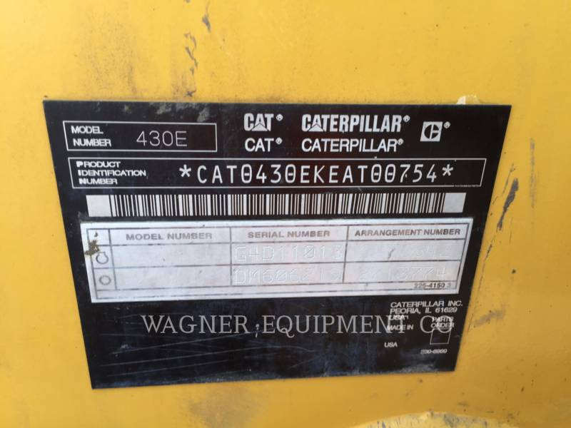 CATERPILLAR BACKHOE LOADERS 430E 4WD equipment  photo 6